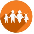depositphotos 69123219 Flat icon of family